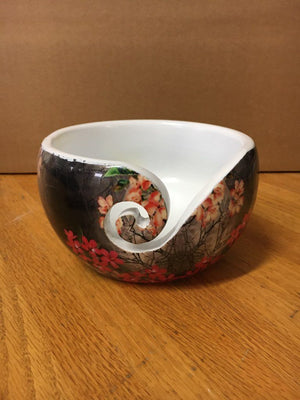 Yarn Bowl with Flowers