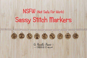 A Needle Runs Through It Stitch Markers - Sassy