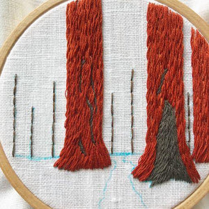 Sequoia Grove Embroidery Kit