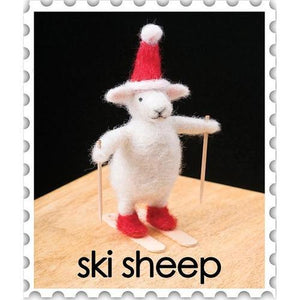 Needle Felting Kit - Ski Sheep