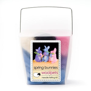 Needle Felting Kit - Spring Bunnies