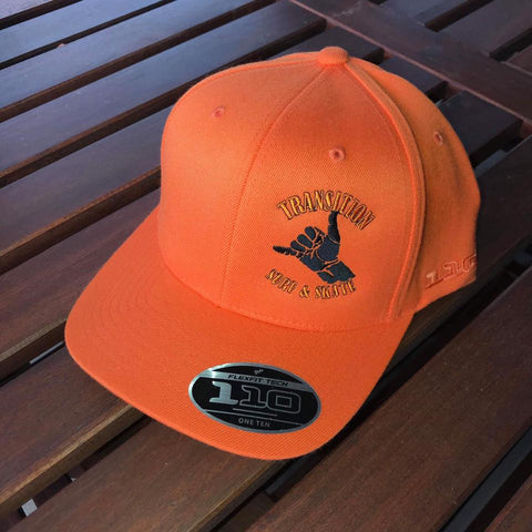 Transition Surf & Skate Flexfit Caps - Orange