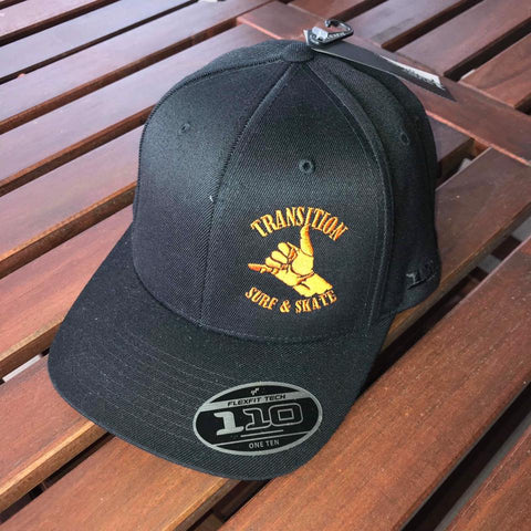Transition Surf & Skate Flexfit Caps - Black