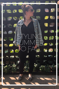 How to style our summer sale items for fall!
