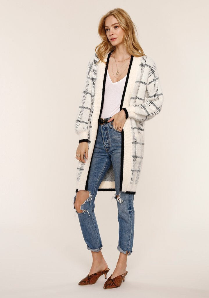 The Sheri Cardi is a perfect item for layering as winter turns into spring.
