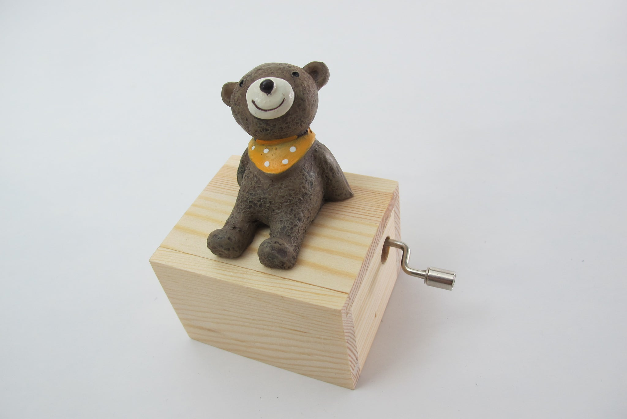 4-piece Gift Box + Teddy Bear Hand Crank Music Box Set
