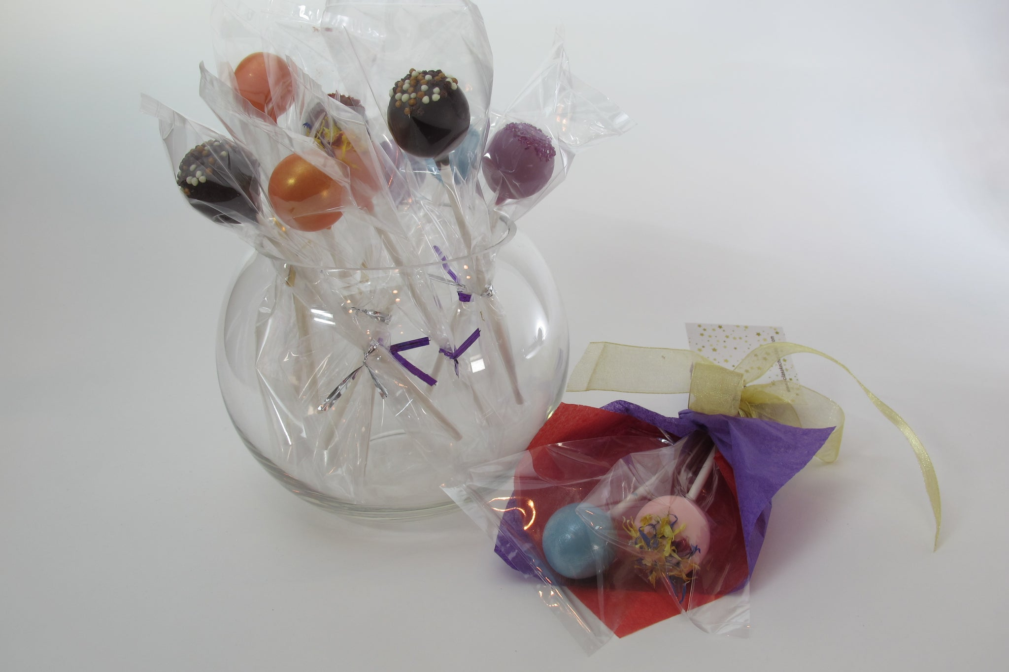 2 Single Stem Truffle Flower Bouquet & individually wrapped Truffle Flowers with various flavours