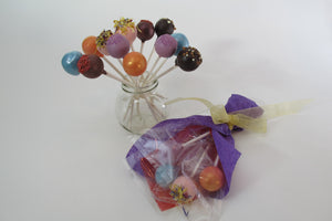 4 single stem truffle flower bouquet & truffle flowers with various flavours in a vase