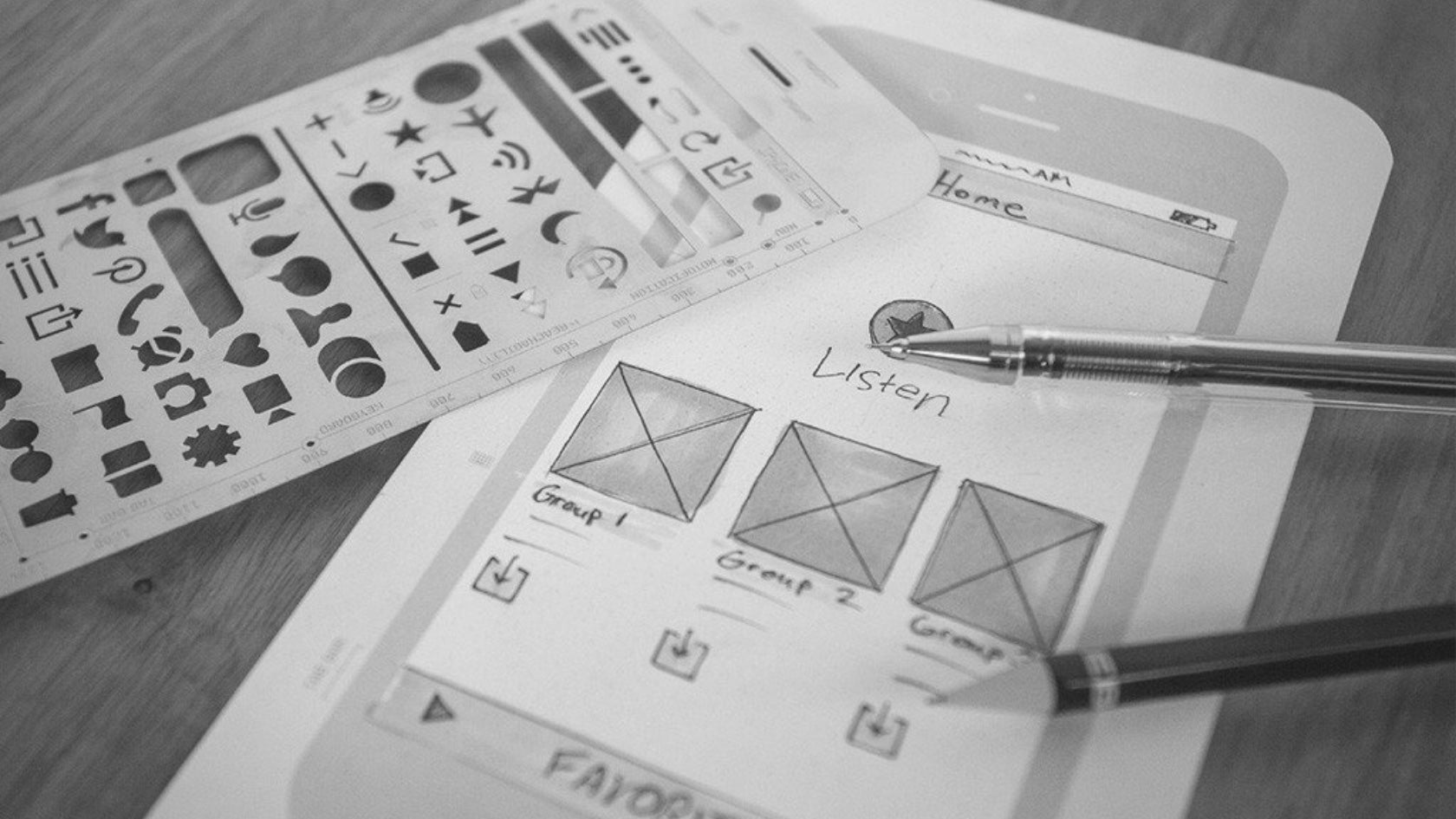 Sketching with UI stencils