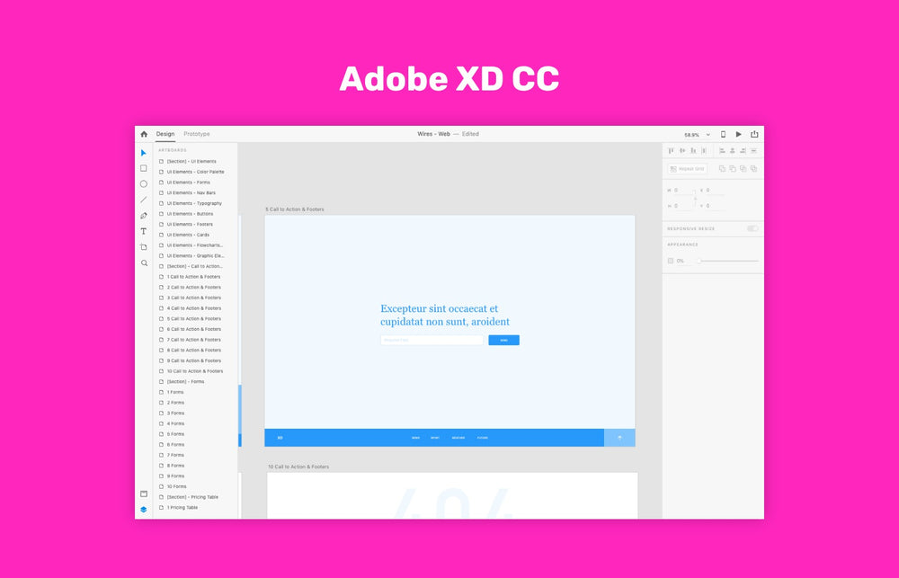Adobe XD CC for macOS and Windows