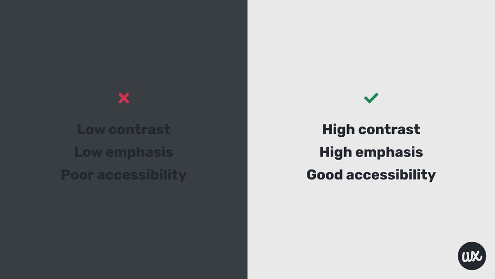 Principles of design: contrast example