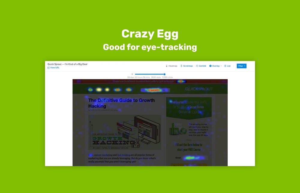 Eye-tracking with Crazy Egg