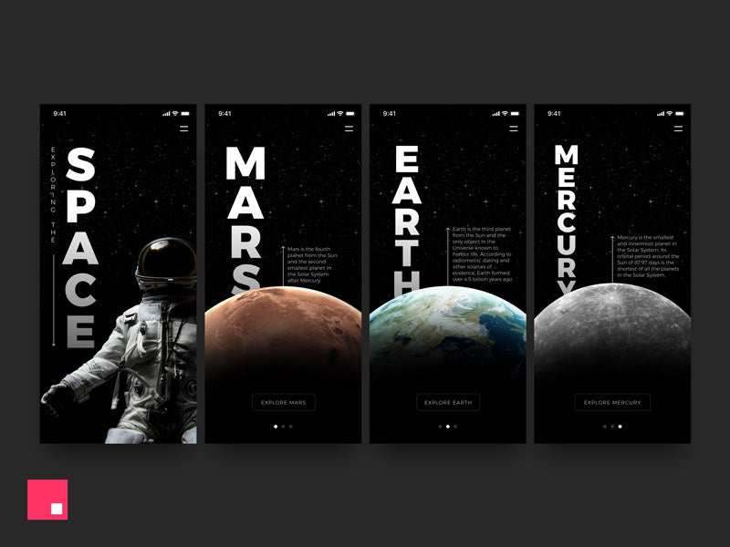 Interactive space animations