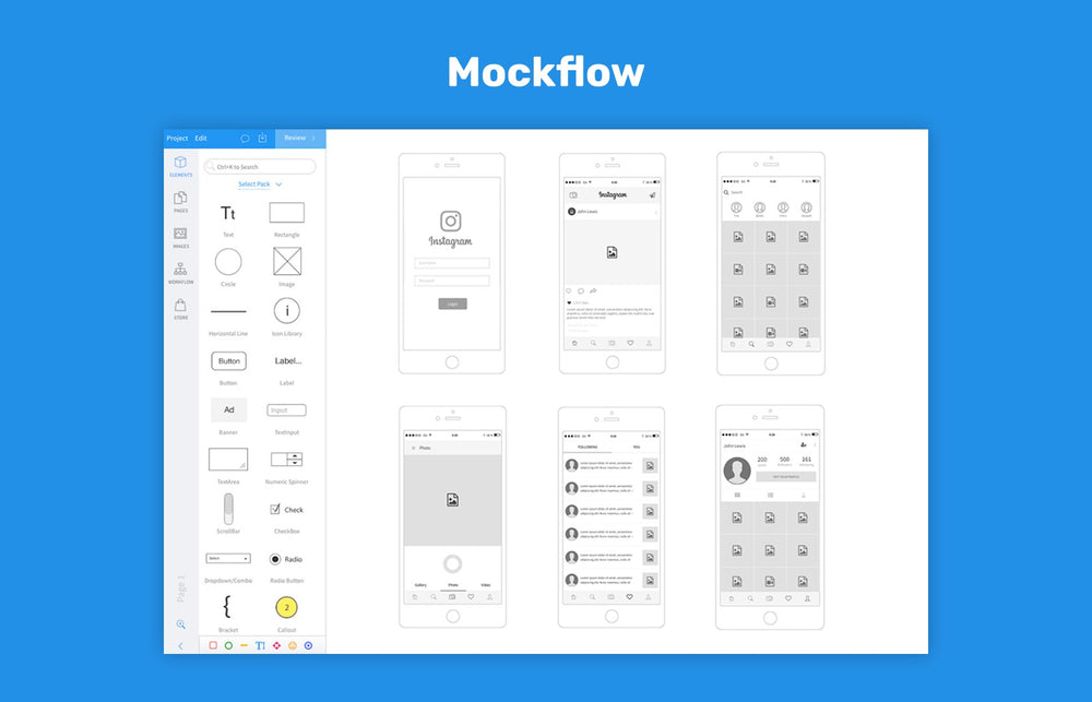 MockFlow, wireframe tool