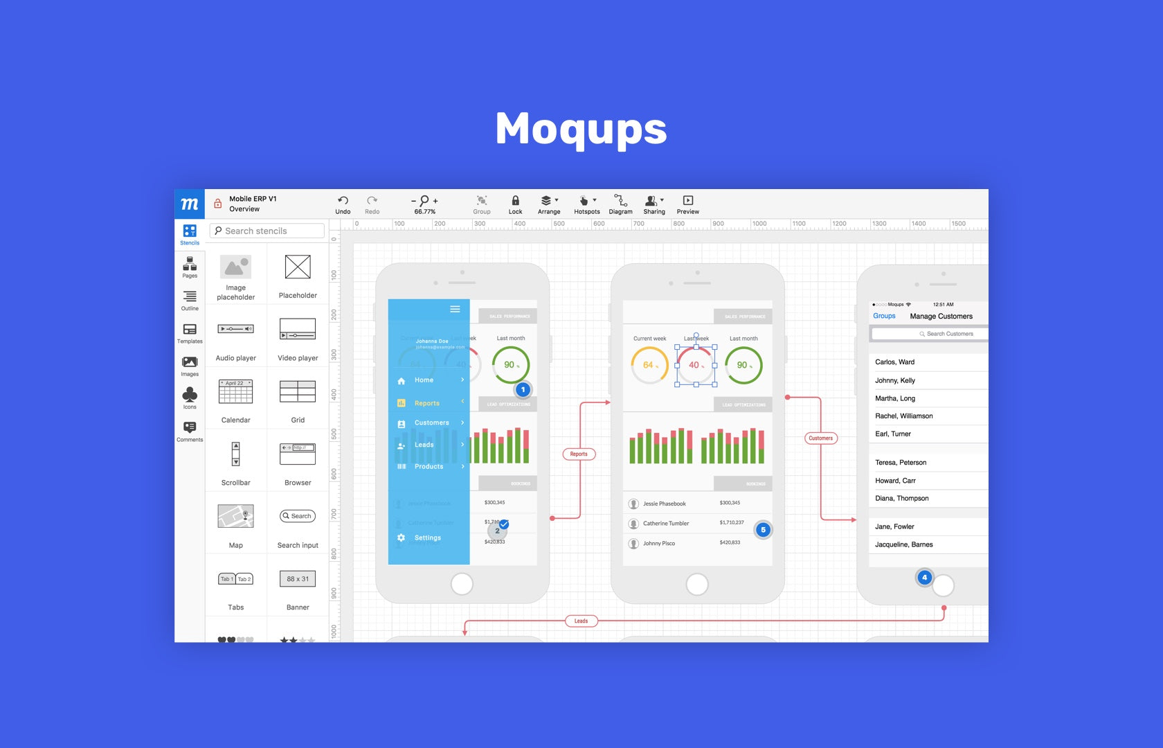 Moqups is an online mockup tool