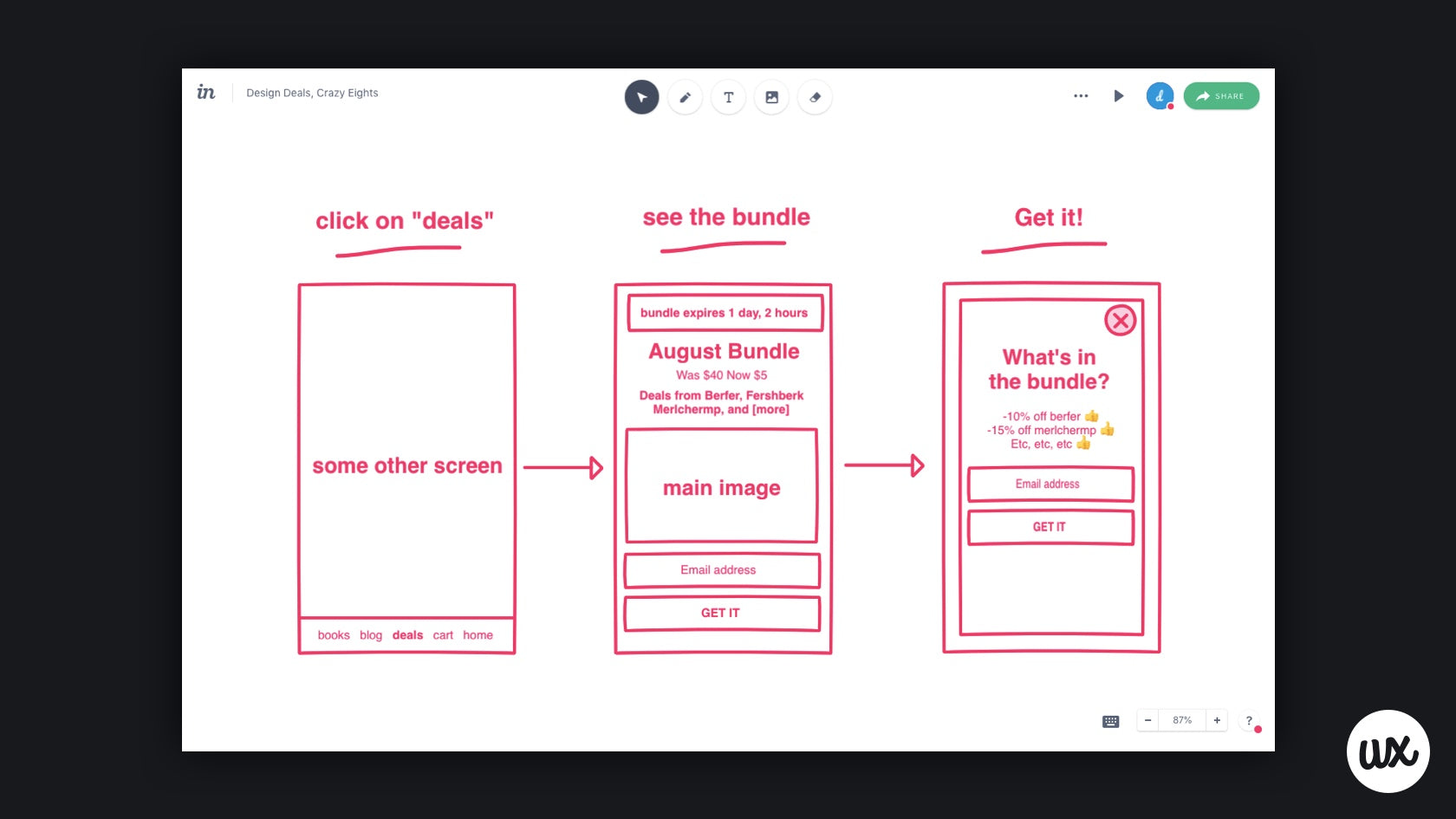 Storyboarding with InVision Freehand