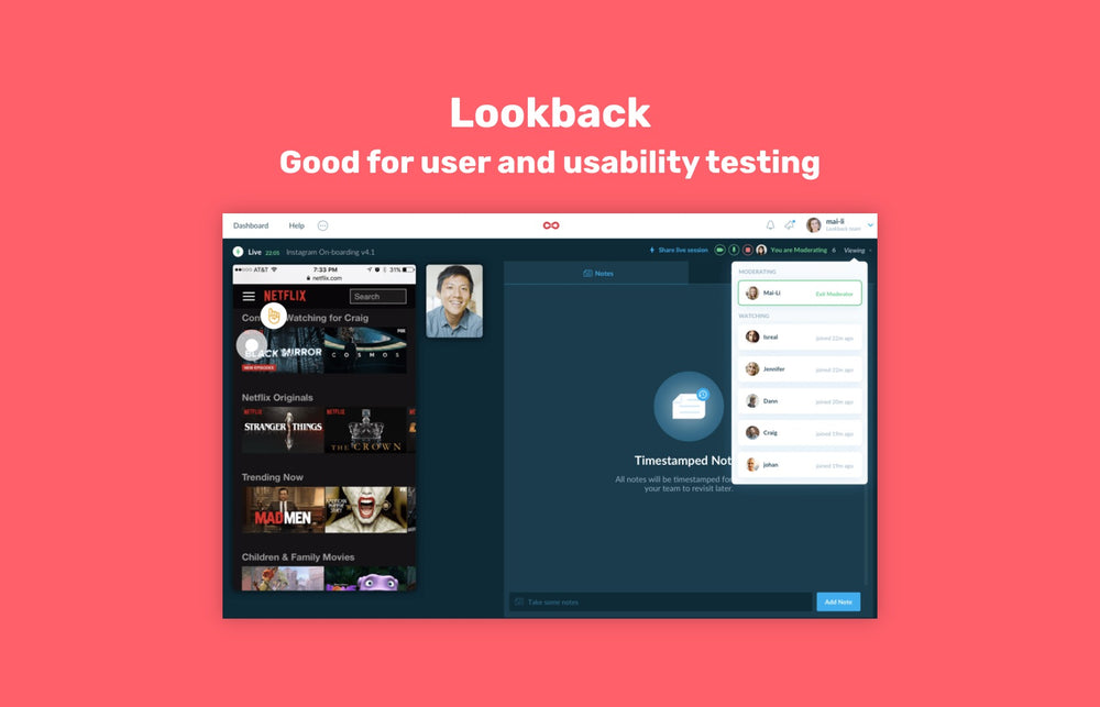 User testing with Lookback