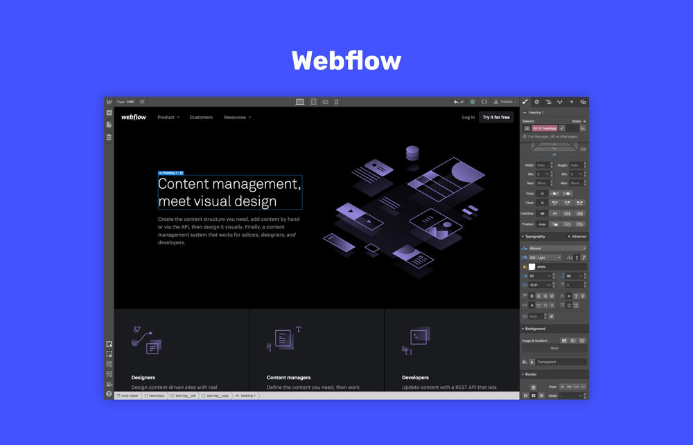 Webflow the online web design tool