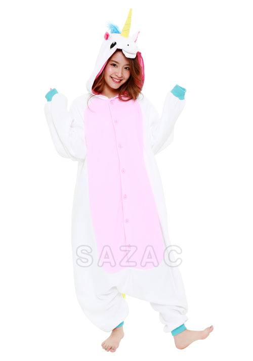 WHITE UNICORN KIGURUMI - Adult Regular
