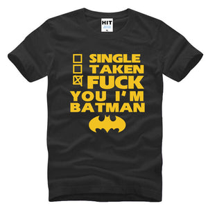 Funny Spoof Movie BATMAN Letter Printed Mens Men T Shirt Tshirt Fashion 2016 New O Neck Cotton T-shirt Tee Camisetas Hombre