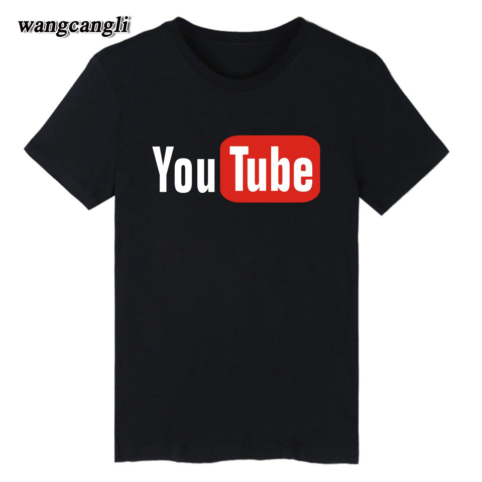 2017 best friends t shirt harajuku Youtube Logo Printed tshirts cotton women with 4XL You Tube T-shirts for women Tee Shirt