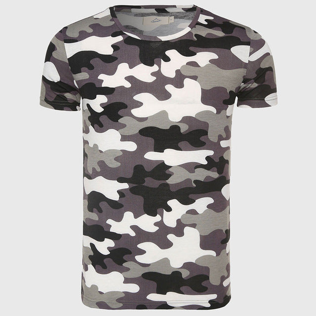 Men Camouflage T-Shirt Camo Male Army Military T Shirt Casual Top Tees Men Tshirts Menswear Cool