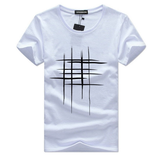 Givanildo Homme Clothes Short Sleeve T-Shirts Men Tshirt Casual Cotton 5XL Tee Shirt Summer Cassion Printing Tees BY175