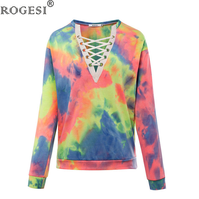 Rogesi 2018 New Casual Women T Shirts Hooded Long Sleeve Round Neck Short Shirt