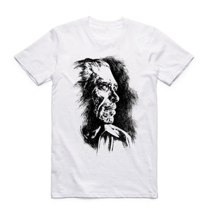 2017 S-XXX Men Women The Charles Bukowski T-shirt Short sleeve O-Neck Harajuku Vintage Book Literary Poet Literature Cool Tshirt
