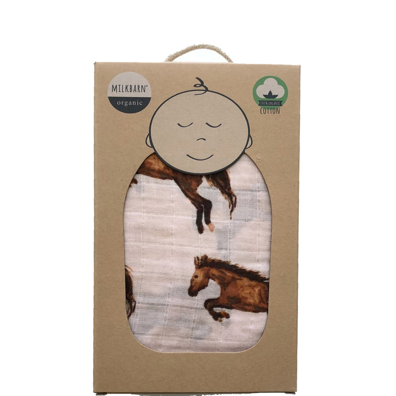 pink horse swaddle
