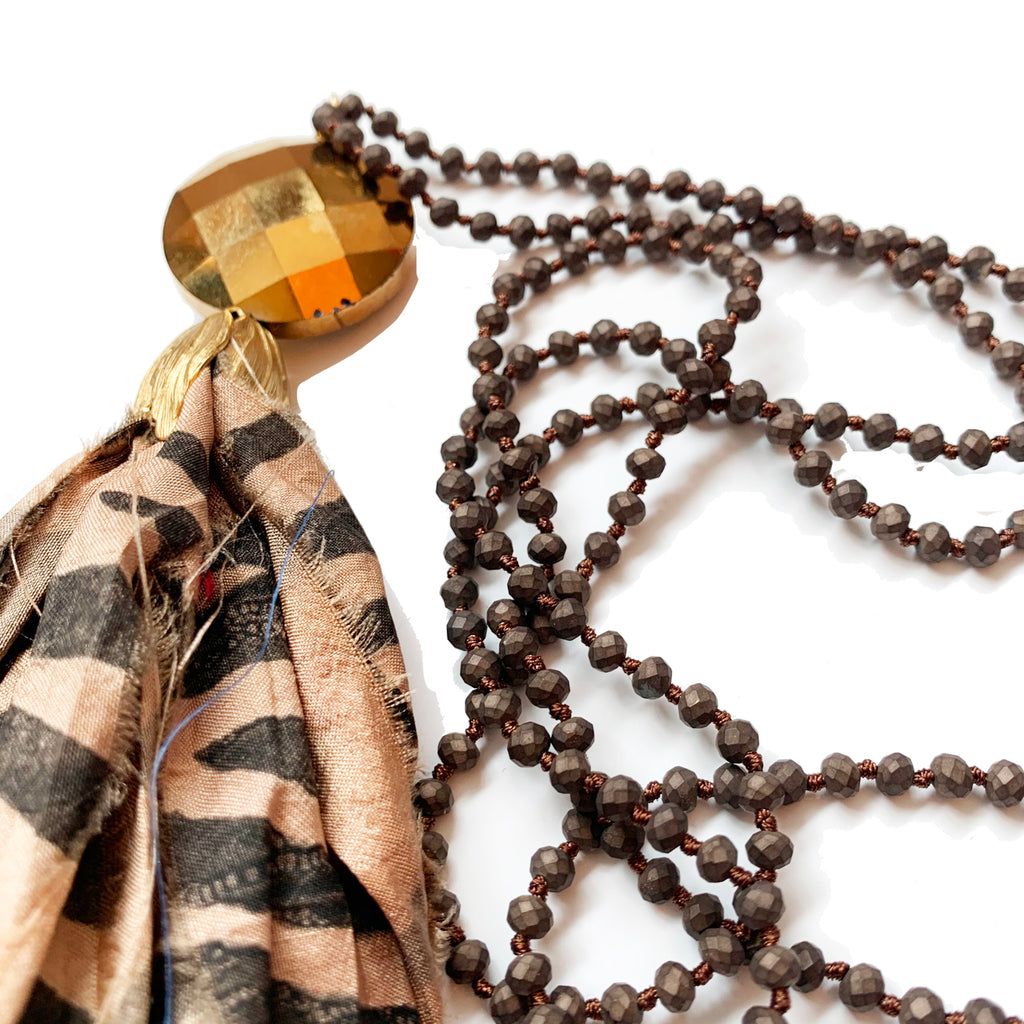 no. 110 silk tassel necklace