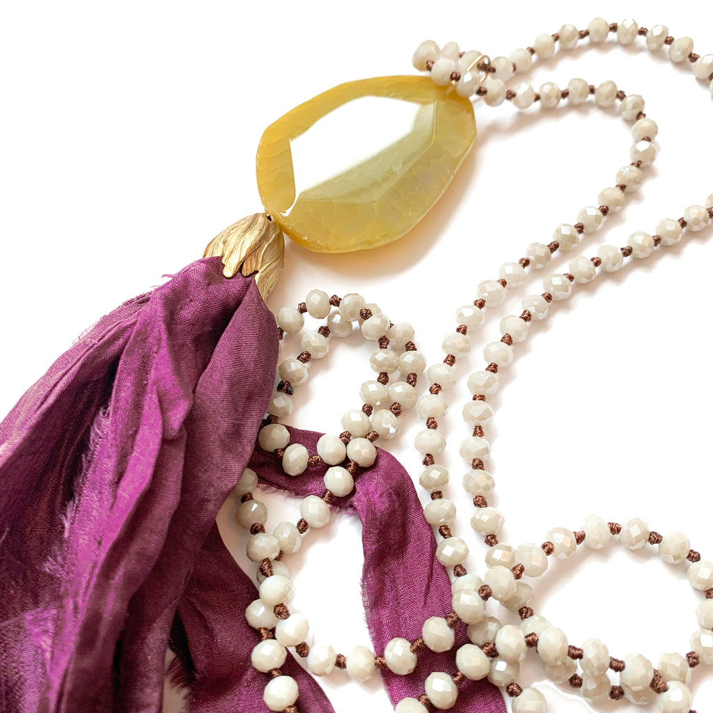 no. 103 silk tassel necklace