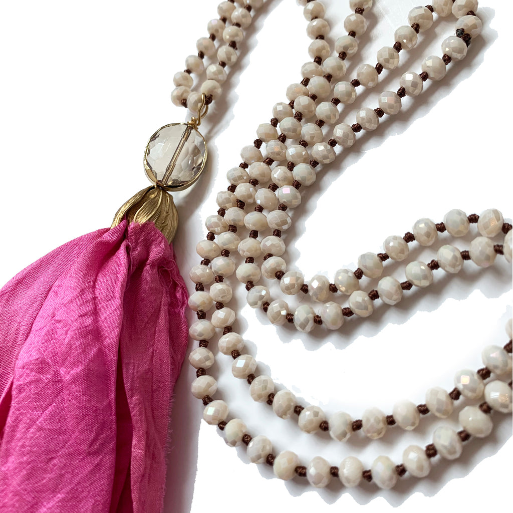 no. 116 silk tassel necklace