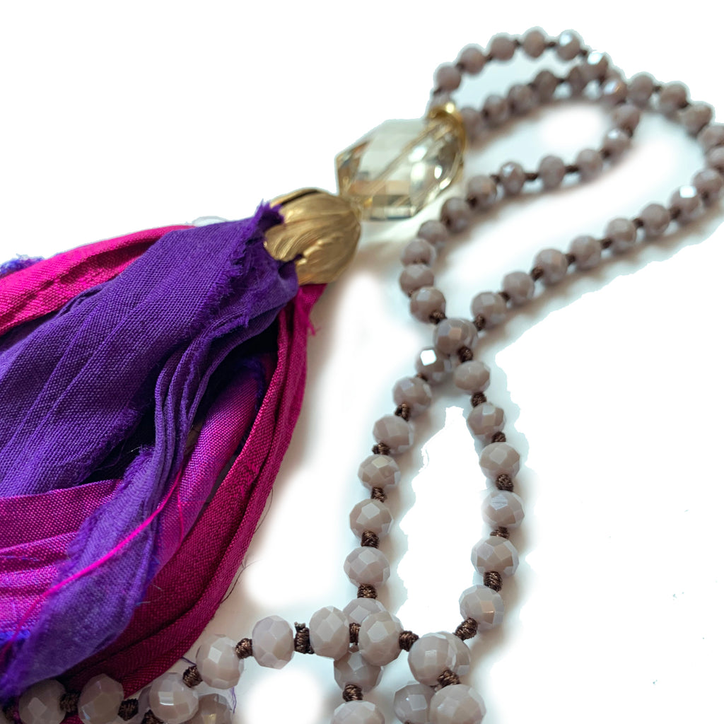 no. 119 silk tassel necklace