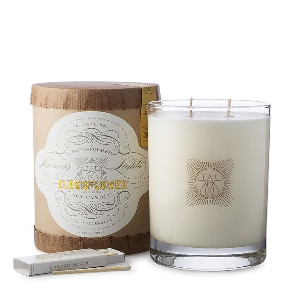 elderflower, 2-wick Candle