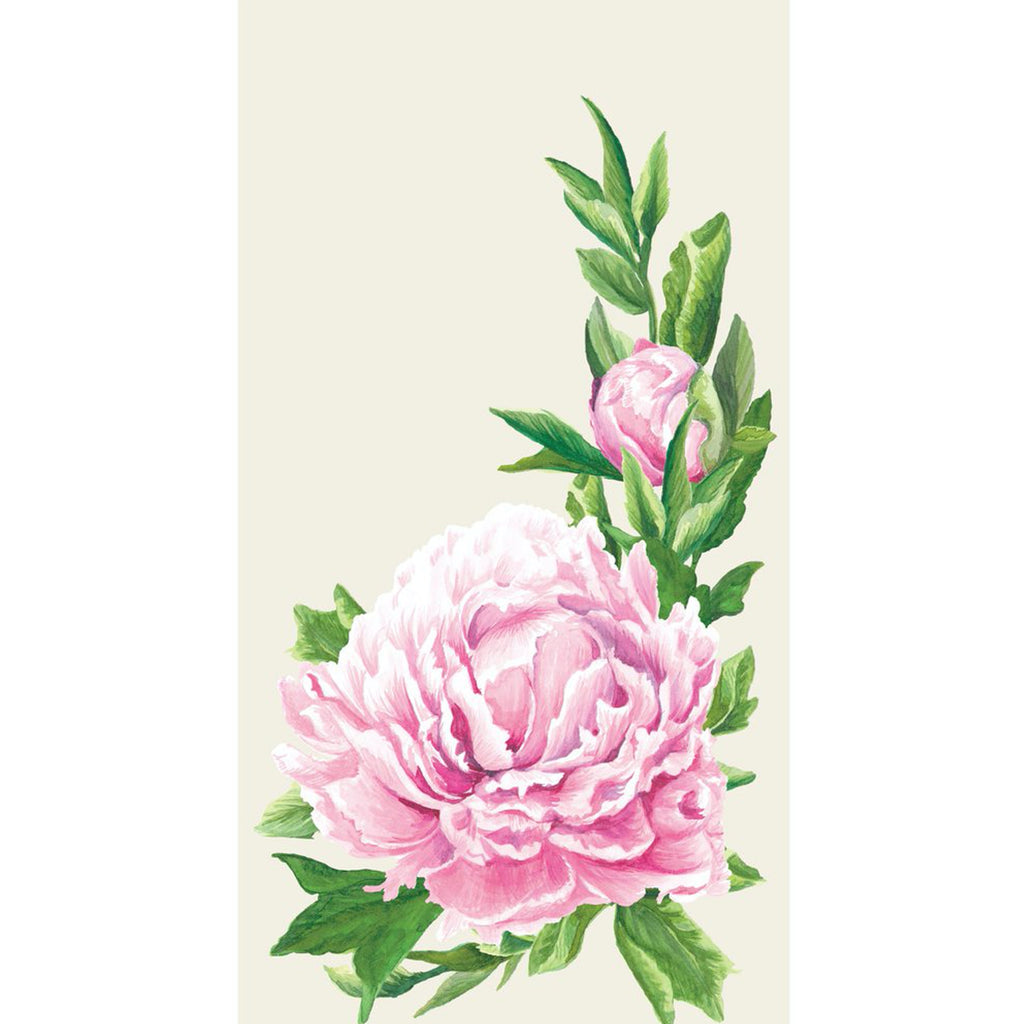 peony bloom guest napkins