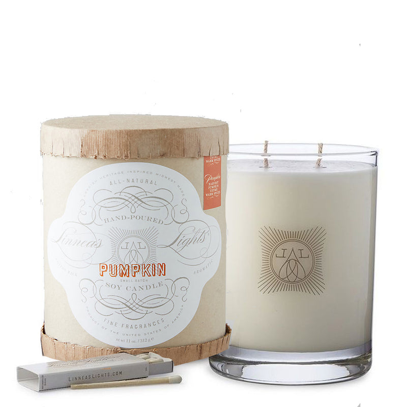pumpkin 2-wick candle