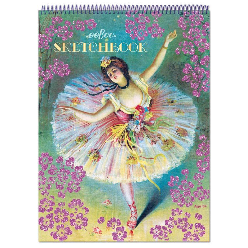 French Dancer with Flowers sketchbook