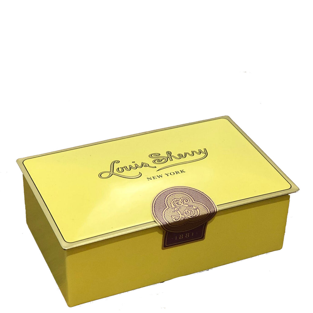 "2 piece canary yellow ""jewel box"" Chocolate Truffle Tin"