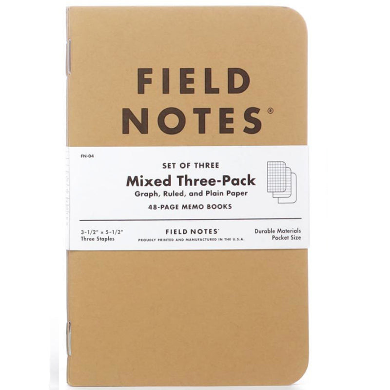 mixed FIELD NOTES: set (3)