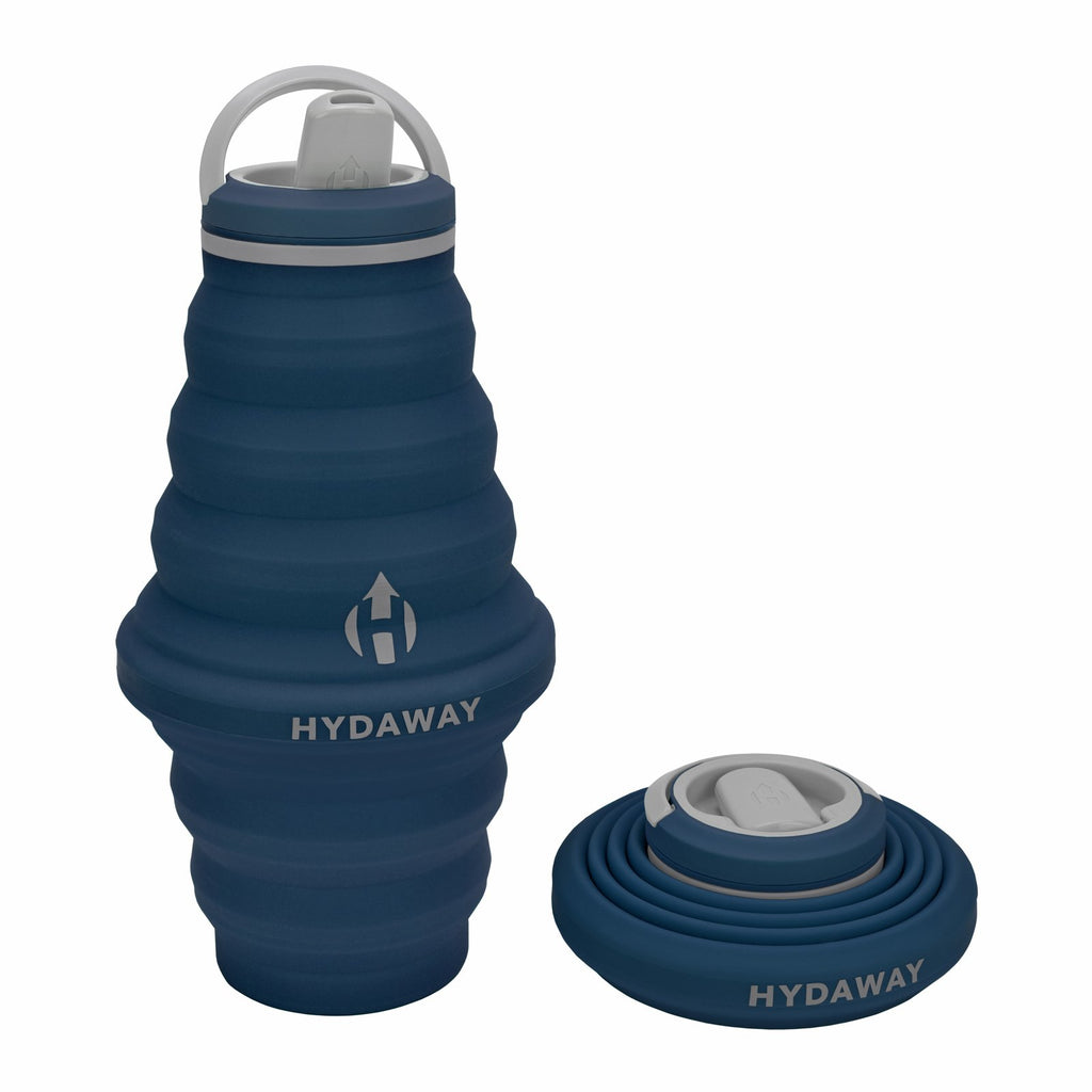 navy: : Collapsible Water Bottle | 25oz | Spout Lid