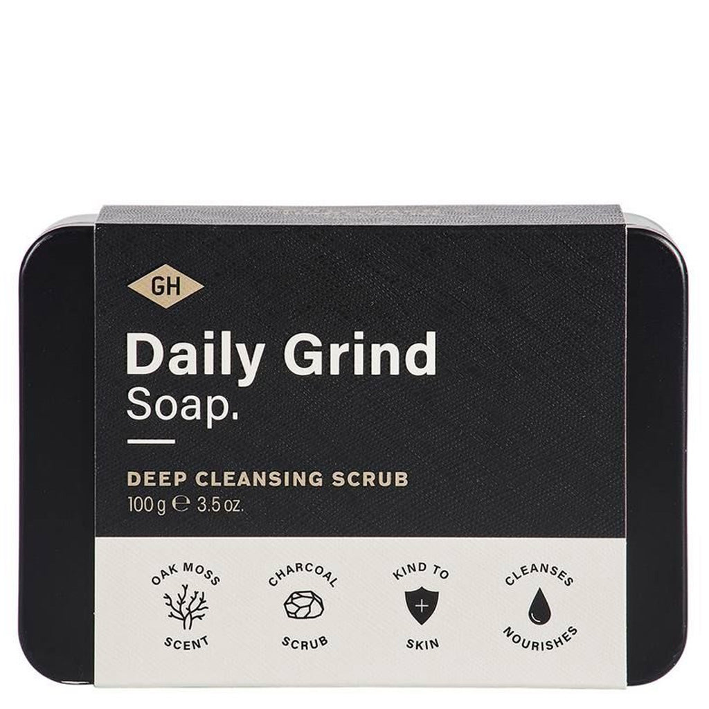 oak moss charcoal  : daily grind soap