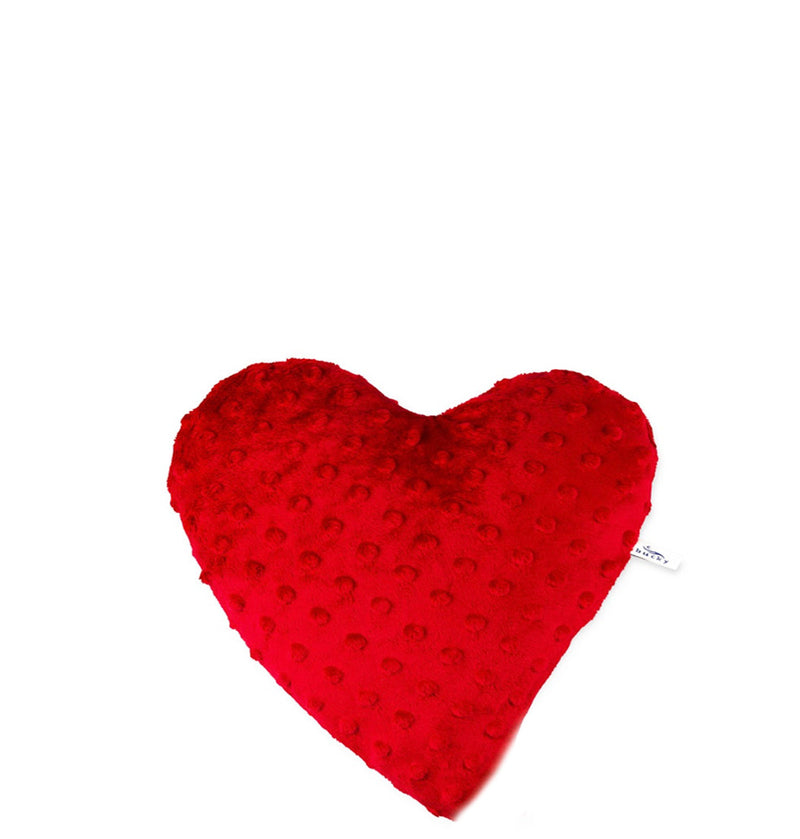 small Heart Warmer Pillow Red