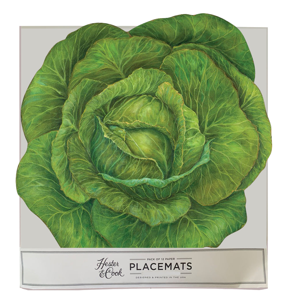 Garden Cabbage Die-Cut  Placemat