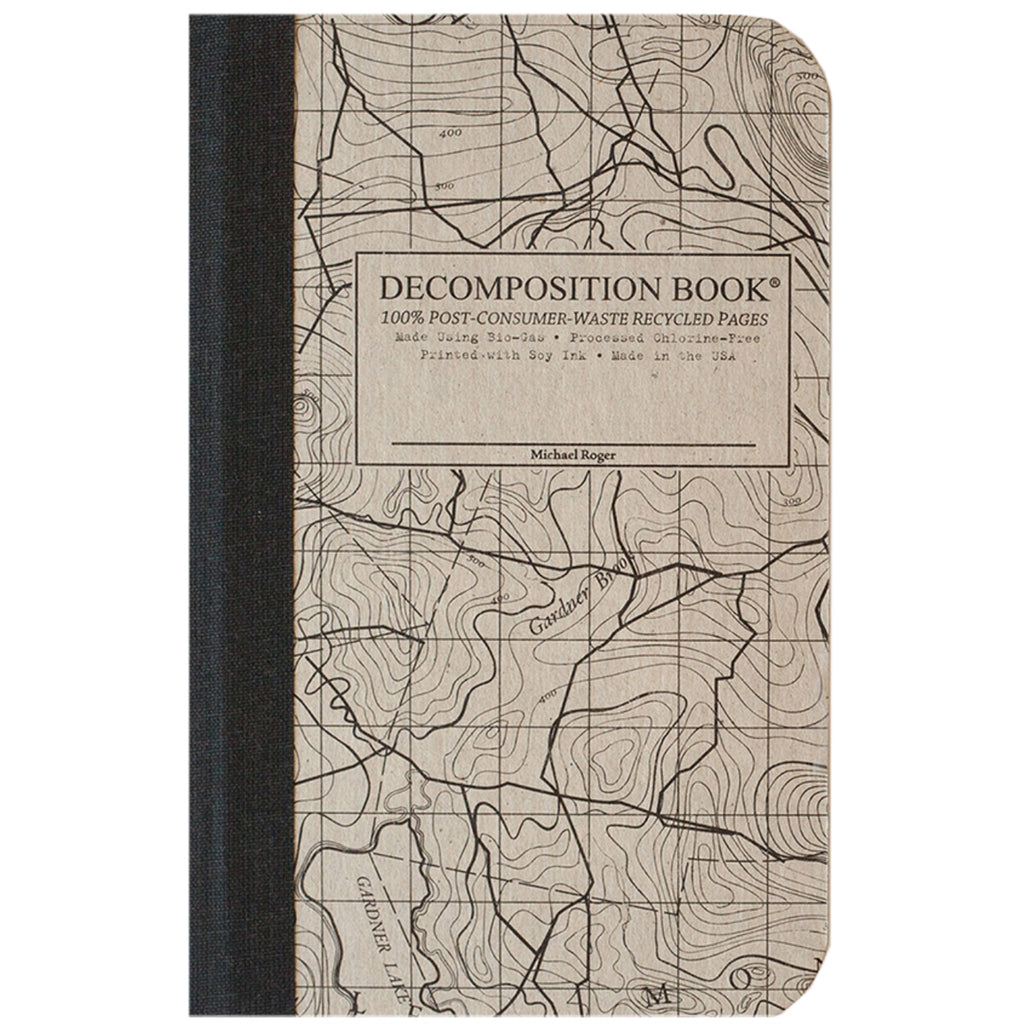 Topographical Map Pocket Size Decomposition Book (Grid Pages)