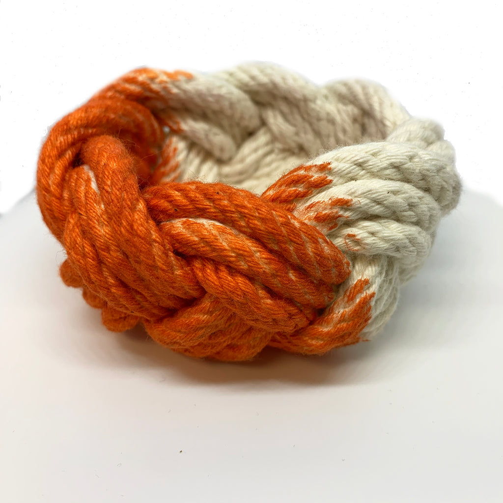 deep orange: rope bracelet
