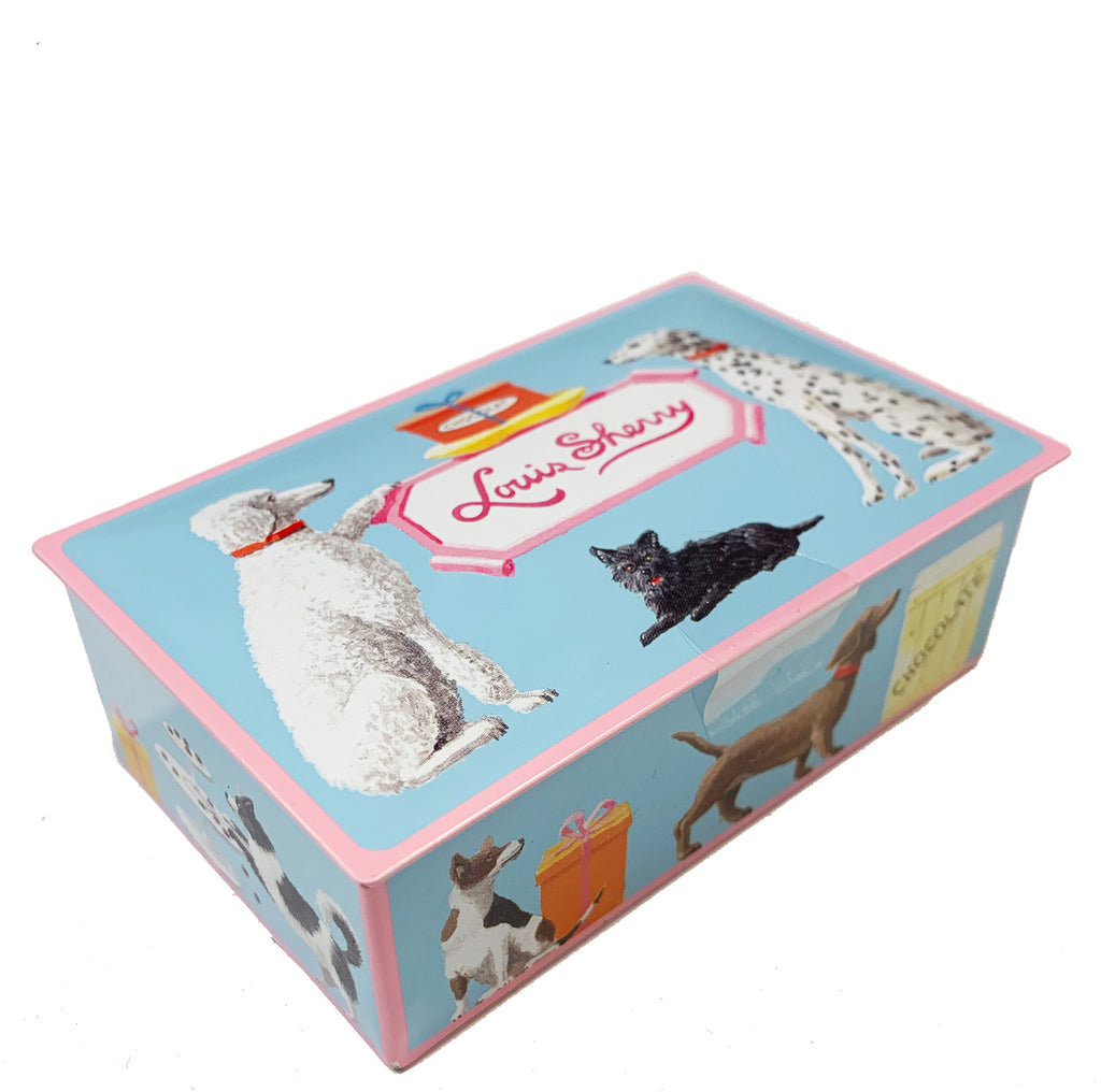 "2 piece Harrison Hounds  ""jewel box"" Chocolate Truffle Tin"