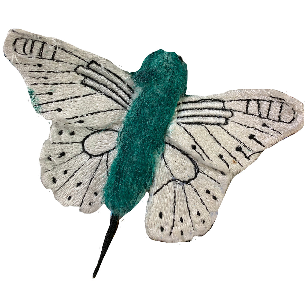 green butterfly ornament