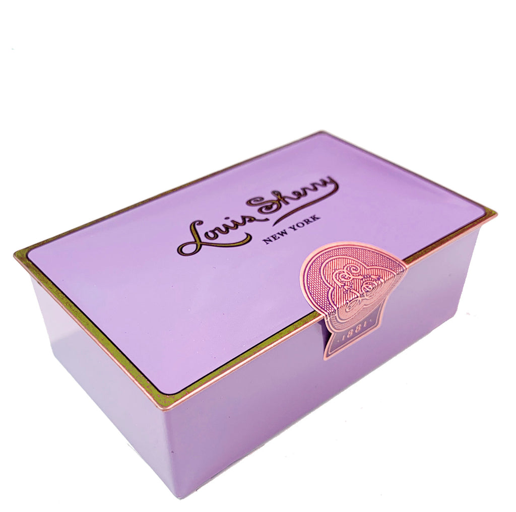"2 piece Amethyst  ""jewel box"" Chocolate Truffle Tin"