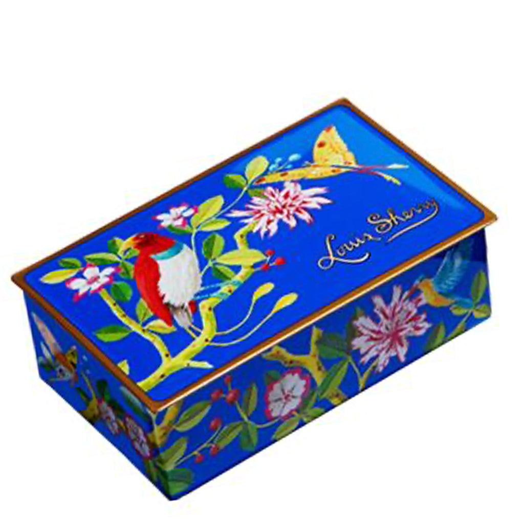 "2 piece Birds & Butterly ""jewel box"" Chocolate Truffle Tin"